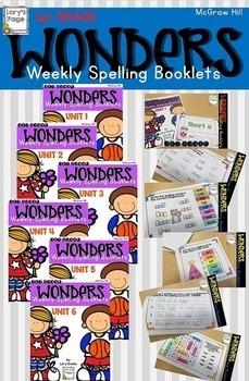 1st Grade WONDERS Spelling Booklet Bundle