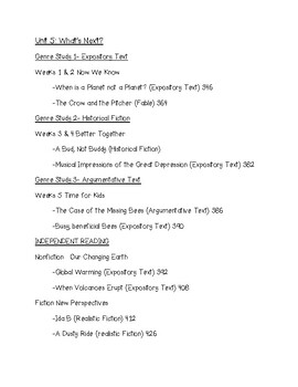 WONDERS 2020 Reading Unit 5 Schedule 5th Grade McGraw Hill
