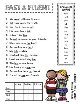 Fast and Fluent 2nd Grade WONDERS - Distance Learning