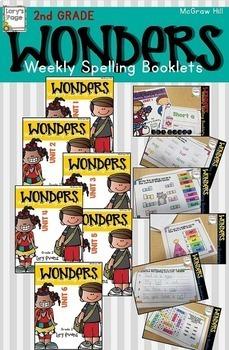 Spelling Booklet 2nd Grade WONDERS Bundle