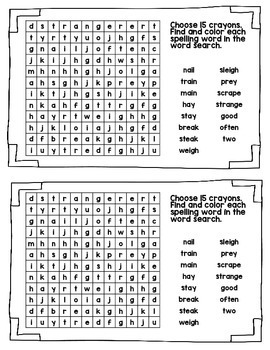 Spelling Booklet 2nd Grade WONDERS  Unit 3