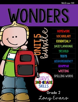 Unit 5 Bundle WONDERS 2nd Grade