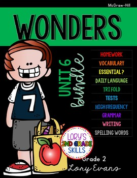 Unit 6 Bundle WONDERS 2nd Grade