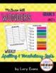 3rd Grade WONDERS Spelling & Vocabulary Test Units 1-6