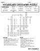 WONDERS - CrossWord Puzzles Unit 3 FREEBIE
