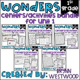WONDERS First Grade Centers Menu and Centers Unit 1 BUNDLE