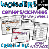 WONDERS First Grade Centers and Activities for Unit 1 Week 1