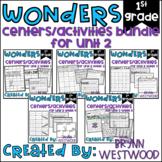WONDERS First Grade Centers Menu and Centers Unit 2 BUNDLE