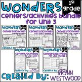 WONDERS First Grade Centers Menu and Centers Unit 3 BUNDLE