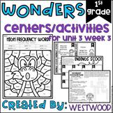Reading WONDERS First Grade Centers Unit 3 Week 3