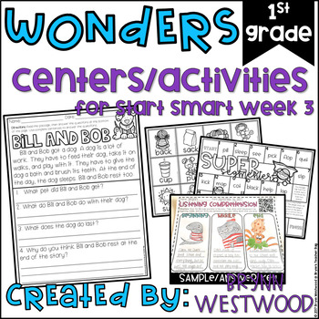 WONDERS First Grade Centers and Activities for Start Smart Week 3