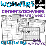 WONDERS First Grade Centers and Activities for Unit 2 Week 2