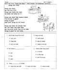 WONDERS, First Grade, Unit 2, Week 1-5 Comprehension Tests