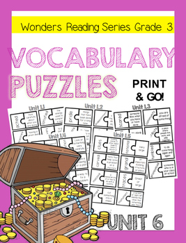 WONDERS GRADE 3 VOCABULARY PUZZLES Unit 6