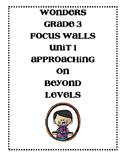 WONDERS Grade 3 Unit 1 Focus Walls