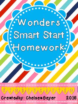 McGraw Hill - Wonders - EDITABLE Homework Packet - Smart Start - Kindergarten