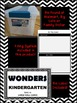 WONDERS ~ Kindergarten ~ B&W Chevron ~Large Wall Cards, Fi