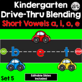 Kindergarten Drive-Thru Blending: Short Vowels a, i, o, e (Set 5)