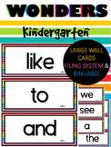 WONDERS ~ Kindergarten Large Wall Words (RAINBOW) , Filing System & Bin Label