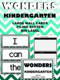 WONDERS ~ Kindergarten ~ Mint Chevron ~ Wall Words  (Filing System & Label)