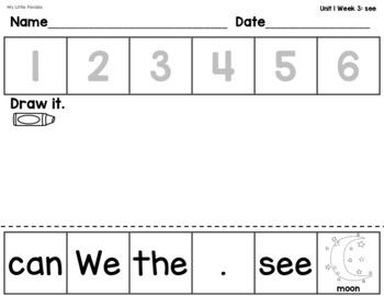 WONDERS Kindergarten Mix and Fix High Frequency Word Sentences