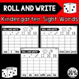 WONDERS Kindergarten ROLL AND WRITE Sight Words
