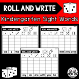 ROLL AND WRITE Kindergarten Sight Words