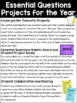 WONDERS Kindergarten Research and Inquiry Projects *Smart Start and Unit 1*
