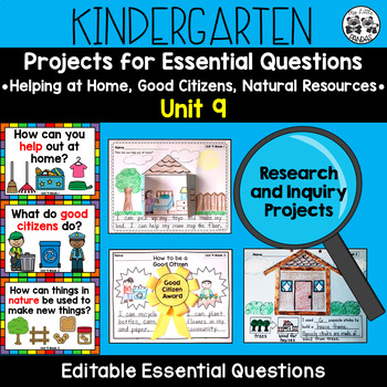 WONDERS Kindergarten Research and Inquiry Projects *Unit 9*