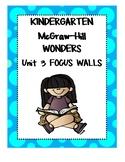 WONDERS Kindergarten Unit 3 Focus Walls