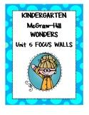 WONDERS Kindergarten Unit 5 Focus Walls