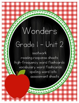 WONDERS (McGraw Hill) First Grade Resources - Unit 2