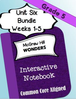 WONDERS McGraw Hill Interactive Notebook BUNDLE Unit 6