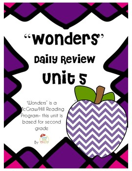 WONDERS Unit 5 Daily Review- for Second Grade