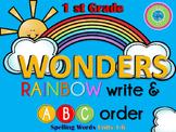 WONDERS Rainbow Write & ABC Order ~ First Grade~ Spelling Words