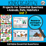 WONDERS Kindergarten Research and Inquiry Projects *Unit 7*