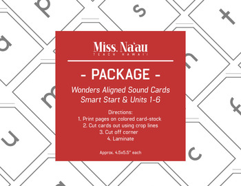 WONDERS SOUND CARDS - PACKAGE - FIRST GRADE