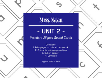 WONDERS SOUND CARDS - UNIT 2 - FIRST GRADE