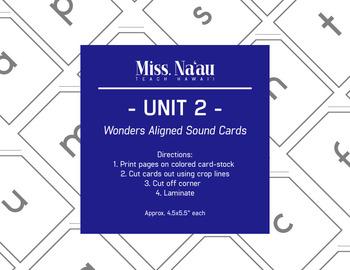 WONDERS SOUND CARDS - UNIT 2 - FIRST GRADE
