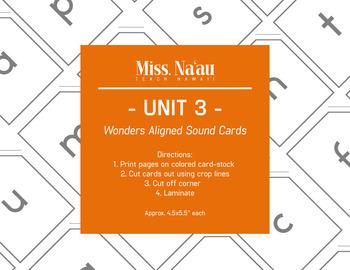 WONDERS SOUND CARDS - UNIT 3 - FIRST GRADE