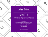 WONDERS SOUND CARDS - UNIT 4 - FIRST GRADE