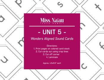 WONDERS SOUND CARDS - UNIT 5 - FIRST GRADE