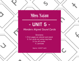 WONDERS SOUND CARDS - UNIT 5 - FIRST GRADE