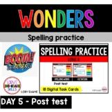 WONDERS Spelling Practice Grade 2 Unit 3 Week 1 Part 5