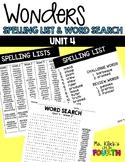 WONDERS - Spelling & Word Search - Unit 4