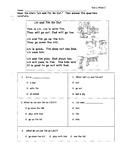 WONDERS- UNIT 1 WEEK 2 COMPREHENSION TEST