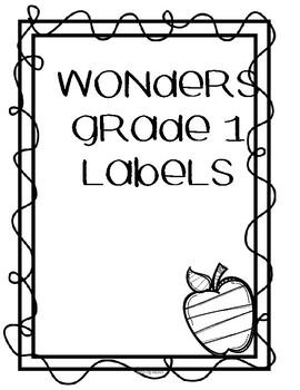 WONDERS UNIT LABELS FOR 1 st grade
