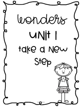 WONDERS UNIT LABELS FOR KINDERGARTEN