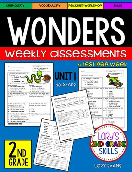 WONDERS Unit 1 Tests