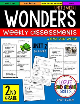 WONDERS Unit 2 Tests Second Grade